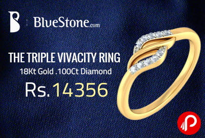 THE TRIPLE VIVACITY RING at Rs.14356 | 18Kt Gold .100Ct Diamond - Bluestone