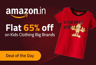 Get Flat 65% off on Kids Clothing Big Brands - Amazon
