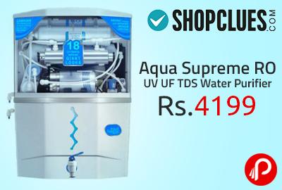Aqua Supreme RO UV UF TDS Water Purifier at Rs.4199 - Shopclues