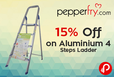 15% off on Aluminium 4 Steps Ladder - Pepperfry