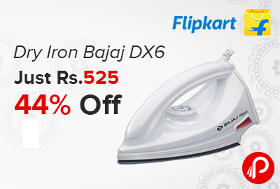 Dry Iron Bajaj DX6 Just Rs.525 | 44% off - Flipkart