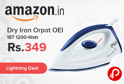 Dry Iron Orpat OEI 187 1200-Watt Just at Rs.349 - Amazon