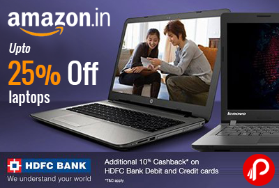 Laptops Upto 25% off | Sale 4th - 6th April - Amazon