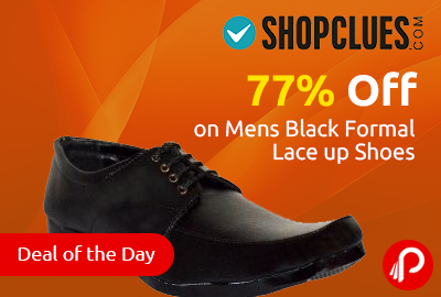 Get 77% off on Mens Black Formal Lace up Shoes at Rs.279 - Shopclues
