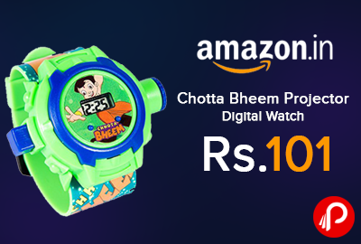 Chotta Bheem Projector Digital Watch Just Rs.101 - Amazon