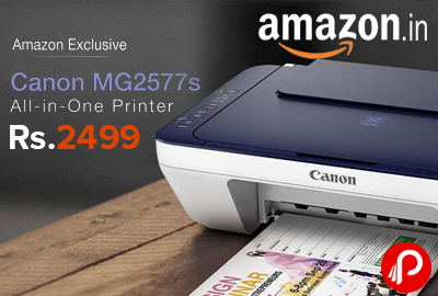All-in-one Printer Canon MG2577s InkJet Printer Just at Rs.2499 - Amazon