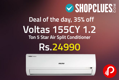 Voltas 155CY 1.2 Ton 5 Star Air Split Conditioner at Rs.24990 - Shopclues