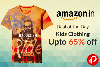 Kids Clothing Upto 65% off | Deal of the Day - Amazon