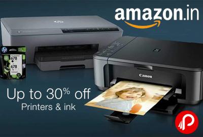 Get upto 30% off on Printers & Ink Toner Cartridges - Amazon