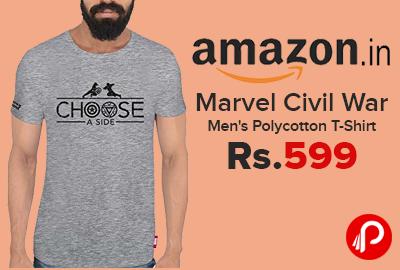 Marvel Civil War Men's Polycotton T-Shirt Just at Rs.599 - Amazon