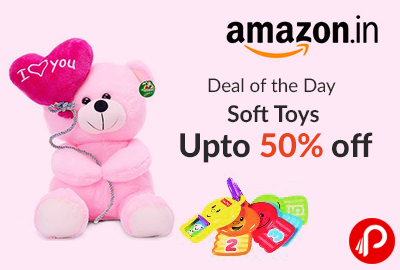 Soft Toys Upto 50% off | Deal of the Day - Amazon
