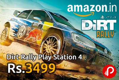 Dirt Rally Play Station 4 just Rs.3499 | Pre Order - Amazon