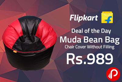 Muda Bean Bag Chair Cover Without Filling at Rs.989 - Flipkart