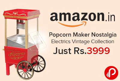Popcorn Maker Nostalgia Electrics Vintage Collection Just Rs.3999 - Amazon