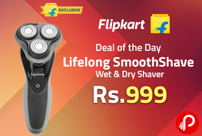 Lifelong SmoothShave Wet & Dry Shaver at Rs.999 - Flipkart