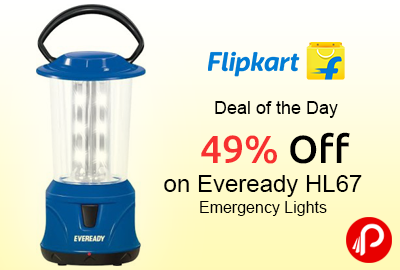 Get 49% off on Eveready HL67 Emergency Lights at Rs.500 - Flipkart