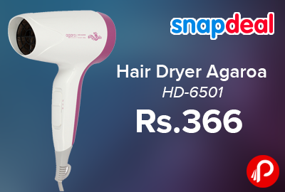 Hair Dryer Agaro HD-6501 Just at Rs.366 - Snapdeal
