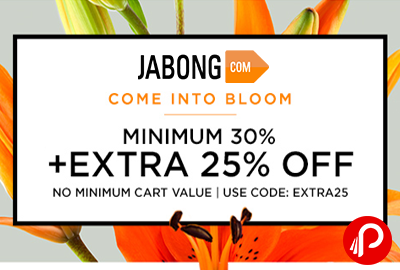 Men's & UniSex Collection Minimum 30% off + Extra 25% off - Jabong