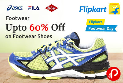 Get Upto 60% off on Footwear Shoes - Flipkart