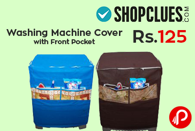 Washing Machine Cover with Front Pocket at Rs.125 - Shopclues
