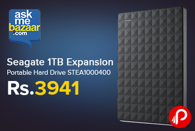 Seagate 1TB Expansion Portable Hard Drive STEA1000400 just Rs.3941 - AskMeBazaar
