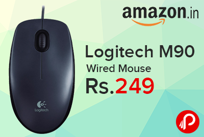 Logitech M90 Wired Mouse at Rs.249 - Amazon