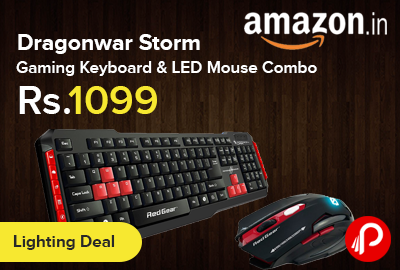 Dragonwar Storm Gaming Keyboard & LED Mouse Combo Just at Rs.1099 - Amazon