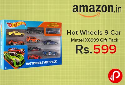 Hot Wheels 9 Car Mattel X6999 Gift Pack just Rs.599 - Amazon