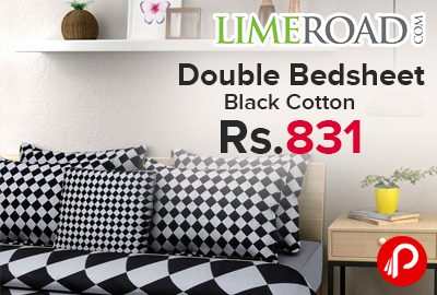 Double Bedsheet Black Cotton Only in Rs.831 - Limeroad