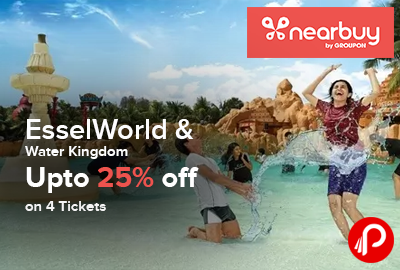 EsselWorld & Water Kingdom Upto 25% off on 4 Tickets - Nearbuy
