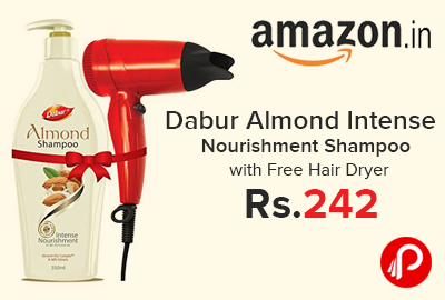 Dabur Almond Intense Nourishment Shampoo with Free Hair Dryer just at Rs.242 - Amazon