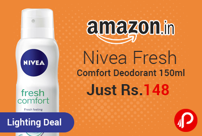 Nivea Fresh Comfort Deodorant 150ml Just Rs.148 - Amazon