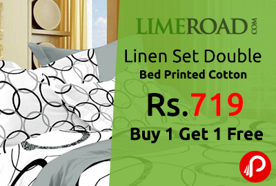 Linen Set Double Bed Printed Cotton Just Rs.719 | Buy 1 Get 1 Free - LimeRoad