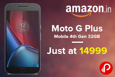 Moto G Plus Mobile 4th Gen 32gb Just At 14999 Amazon