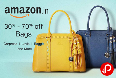 Bags 30-70% off Caprese Lavie Baggit - Amazon