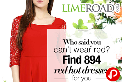 Red Hot Dresses Bestselling Starting Rs.899 - LimeRoad