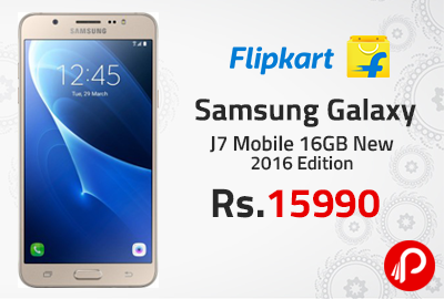 Samsung Galaxy J7 Mobile 16GB New 2016 Edition Just Rs.15990 - Flipkart