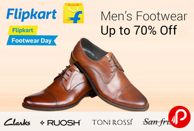 Image result for flipkart Offer : Get upto 70% off on Men's Footwears