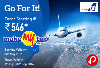 Go Air Sale Domestic Flights Fare Starting Rs.546 - MakeMyTrip