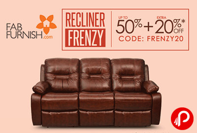 Recliner Frenzy UPTO 50% + Extra 20% off - FabFurnish