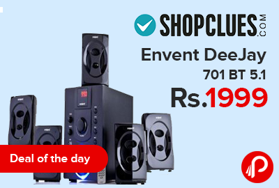 Home Audio Speaker Envent DeeJay 701 BT 5.1 Bluetooth just in Rs.1999 - Shopclues