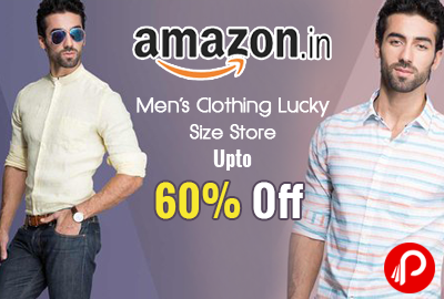 Mens Clothing Lucky Size Store Upto 60% off - Amazon