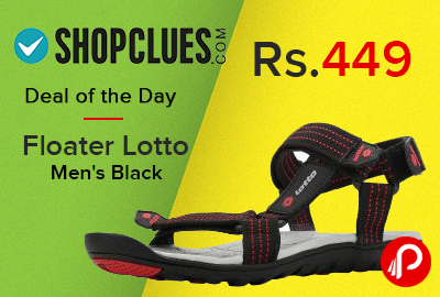 Floater Lotto Men's Black Just at Rs.449 - Shopclues