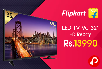 "LED TV Vu 32"" HD Ready just at Rs.13990 - Flipkart"