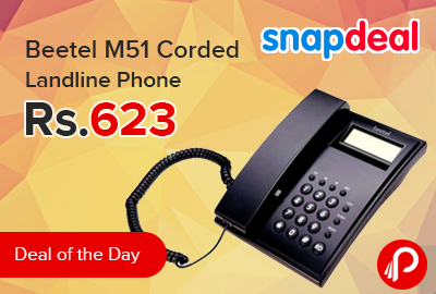 Beetel M51 Corded Landline Phone just at Rs 623 - Snapdeal