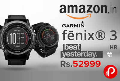 Garmin Fenix 3 HR Wrist Heart Band Just Rs.52999 - Amazon