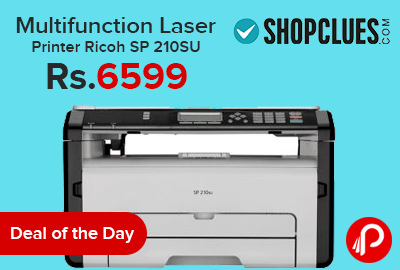 Multifunction Laser Printer Ricoh SP 210SU Just at Rs 6599