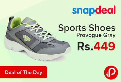 sports shoes provogue gray just at rs 449 snapdeal