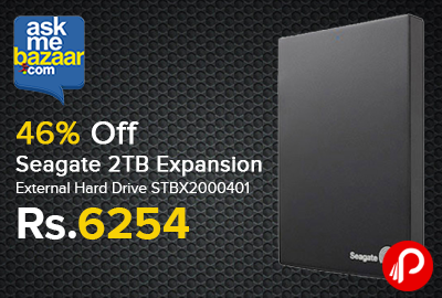 Seagate Expansion 2TB External Hard Drive STBX2000401 just Rs.6254 - AskMeBazaar