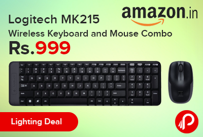 Logitech MK215 Wireless Keyboard and Mouse Combo only in Rs.999 - Amazon